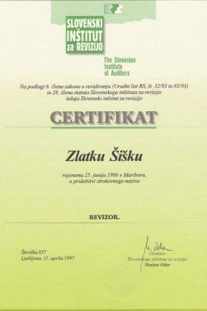 Revizor certifikat